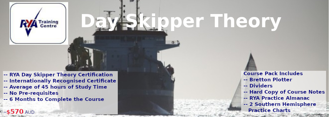 Sorry, the image is broken but this is the page for RYA DAY Skiper Online Theory course $570 including Pack